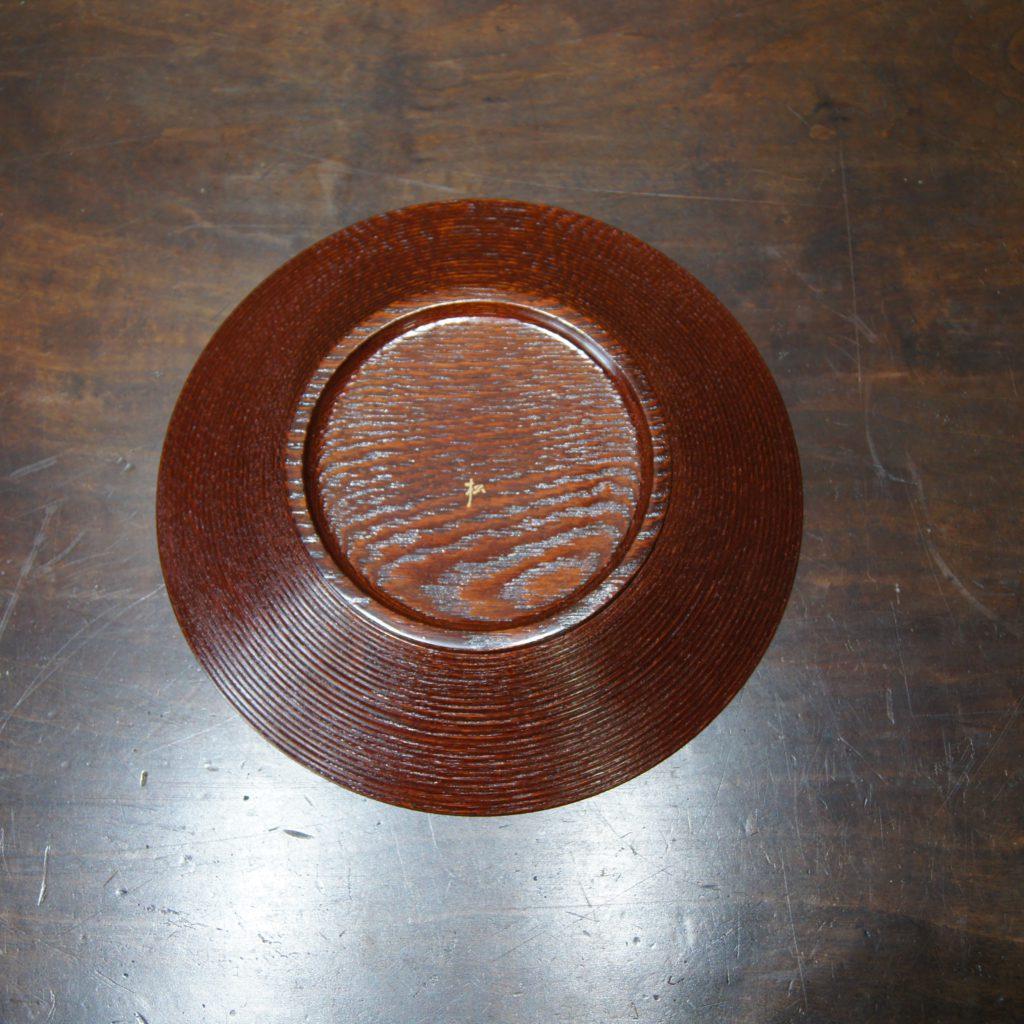 山口松大(やまぐちまつた) 漆絵紅白梅菓子器 共箱2
