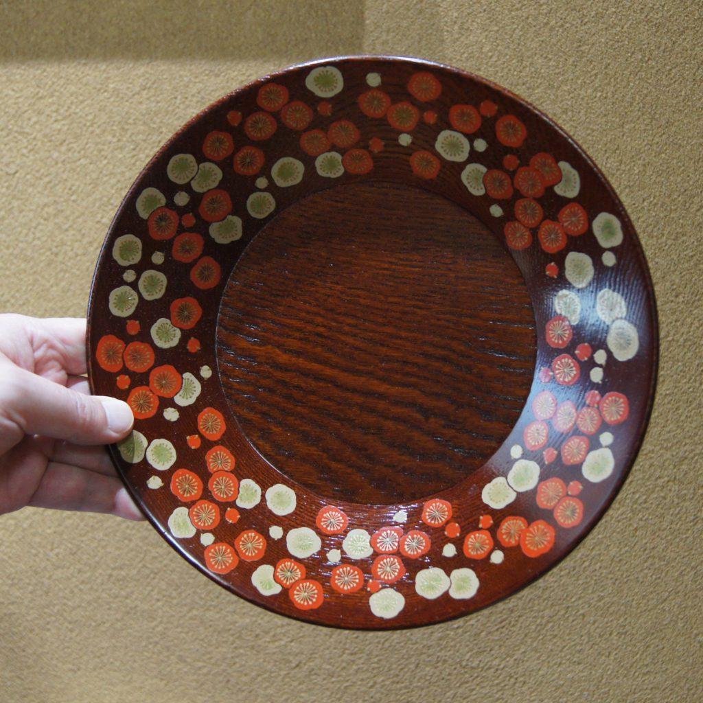 山口松大(やまぐちまつた) 漆絵紅白梅菓子器 共箱4